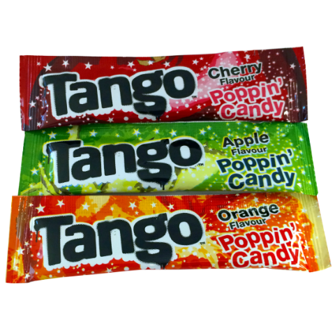 3 x Cherry, Apple & Orange Tango Popping Candy Sachet 2g